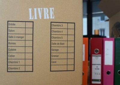 Cartons de déménagement pour livres