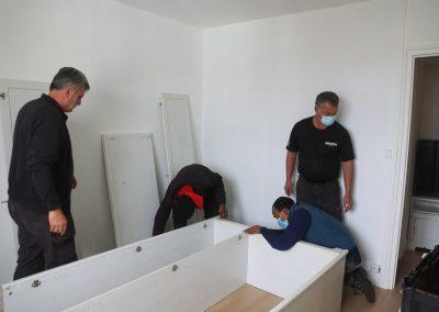 Démontage des meubles et remontage après transport